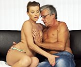 Attractive girl Victoria Daniels love sex with older man