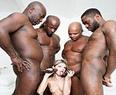 BBC Lover Gina Gerson Fucks 4 Black Cocks!