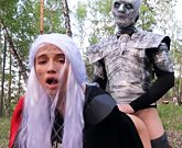 Game of Thrones cosplay – Daenerys Targaryen loves big dick of the Night King