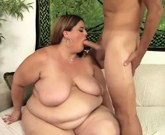 Massive minx BBW Erin Green riding a stiff cock