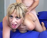 Horny blonde MILF gets filled with thick dick