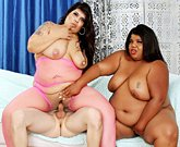 Jeffs Models – BBWs Selena Skye and Peaches Love fuck with a slim guy