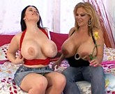 Crystal Storm and Daphne Rosen they are lesbians with huge breasts