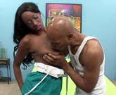 Black girl with big tits America Moore gets big black cock