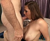 Georgeus brunette with big tits Jessica Roberts takes hard cock