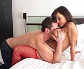 Lisa Ann and Manuel Ferrara – Superb busty brunette fucked in red stockings