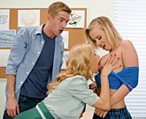 Lucky boy fucks classmate Bailey Brooke and teacher with big tits Alexis Fawx
