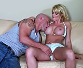 Smut Merchants – Busty blonde MILF sits on fat cock