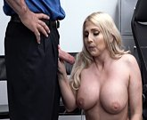 Thick Blonde Milf Christie Stevens gets cum on by big cock