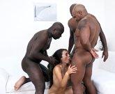 Whore Tiffany Doll loves sex with three big black cocks