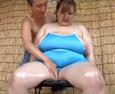 Japanese Big Beautiful Woman swimming