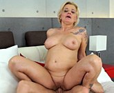 Kinky granny Maria Jamma seduces young Oliver and fucks him wildly