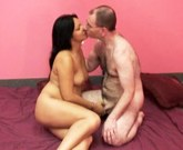 Exotic woman fucks with a white man