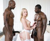Beautiful Blonde Dakota James Screams With Two Big Black Cocks