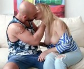 Young busty blonde Christie Star gets big cock in asshole