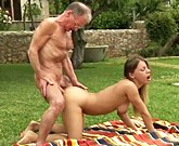 Oldje – Tighty body young girl fucks with Grandpa and sucks his old cock