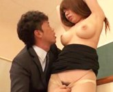 Busty asian girl Iroha Suzumura loves fucking her teacher at school
