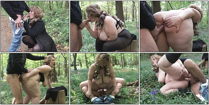 5x.be - Big lady Sophia fucked in a forest