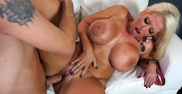 Cougar with large breasts Alura Jenson loves fucking younger men