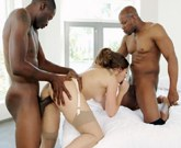 BLACKED – Dani Daniels vs Two Huge Black Cocks!
